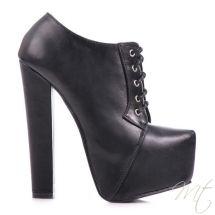 Damske cerne polobotky High #boots #shoes