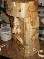 papier mache Easter Island head Large big paper mâché heads like this idea for a sculpture project