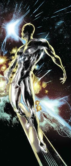 """Silver Surfer by Tan Eng Huat; """"Case of the Space Sausage Slippage"""""""