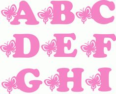 ~~pinned from site directly~~ . . .  Silhouette Design Store - View Design #67456: butterfly alphabet a-i