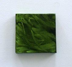 Green Wall Decor  Living Room Art  Mini Canvas Art by CherubimArts