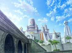 View an image titled 'City Illustration' in our Suikoden V art gallery featuring official character designs, concept art, and promo pictures. Suikoden, Inside Outside, City Illustration, Image Title, Environment Design, Fantasy Landscape, Old World, Game Art, Monument Valley