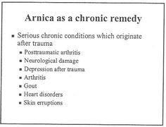 Arnica as a chronic remedy