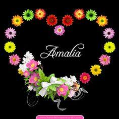 50+2 postales de corazón con flores y nombres de mujeres | Banco de Imágenes Gratis