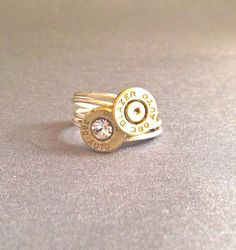 Bullet Ring, Bullet Jewelry, Custom Bullet Jewelry 34.95 LeighBeeJewelry