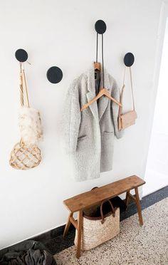 Wall hooks | follow @shophesby for more gypset boho modern lifestyle + interior inspiration www.shophesby.com