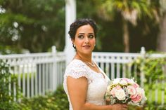 Pink and Green Bridal Bouquet by Aayla and Vjolca - Beautiful Wedding at the Lake Mary Event Center - Orange Blossom Bride - Photographer: Concept Photography - Click Pin for More - www.orangeblossombride.com