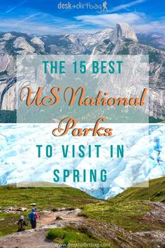 Discover but a few of America's most beautiful landscapes and nature areas with this roundup of the best national parks to visit in spring time. Enjoy glaciers canyons volcanoes deserts and a whole lot more. Start planning now for that epic road trip! Beautiful Places To Visit, Cool Places To Visit, Places To Travel, Travel Destinations, Usa Travel Guide, Travel Usa, Travel Tips, Travel Info, Travel Goals