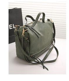 2016 big handbag brand matte Ms. shoulder bag fashion large capacity motorcycle bags leather tassels women Messenger Bag JF205