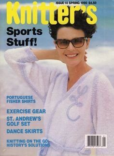 Knitters 18 Spring 1990 Sports Gear Hoodie Dance Skirt Nordic Stockings  #KnittersMagazine #KnittingPatterns