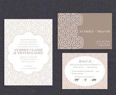 Romantic Vintage Swirl Wedding Printable Invitation Set. Fully Customizable and perfect for the DIY Bride.
