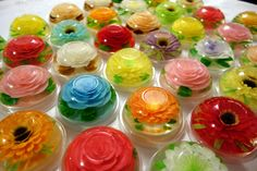 Learn How To Make Gelatin Art Desserts, No Experience Needed. High Quality Gelatin Art Supplies And Tools! Edible Crafts, Edible Art, Puding Art, How To Make Gelatin, 3d Jelly Cake, Jelly Flower, Jello Cake, Jelly Shots, Jello Recipes
