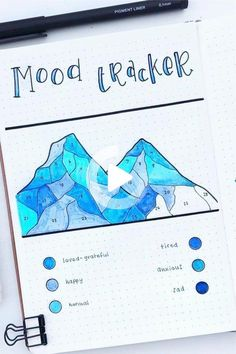 Bullet Journal Mood Tracker Setup & Adorable Inspiration - Crazy Laura Looking to setup you bullet journal mood tracker and need some awesome inspiration? This quick guide and ideas will get you started on the right page! Bullet Journal Tracker, Bullet Journal Paper, Creating A Bullet Journal, Bullet Journal Lettering Ideas, Bullet Journal Notebook, Bullet Journal Aesthetic, Bullet Journal School, Bullet Journal Inspo, Bullet Journal Ideas Pages