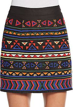 Embellished & Embroidered Mini Skirt