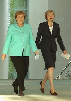 Angela Merkel Photos: Theresa May Meets Angela Merkel in Berlin