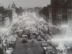 Abington Street, Northampton Christmas Lights 1961