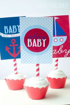 With nautical parties all the rage, I thought I would share a some new ways to use printables for your upcoming Nautical Baby Shower. These below are 5X7 signs from…