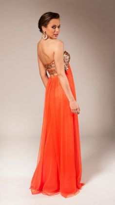 Orange and gold Bridesmaid Dresses, Wedding Dresses, Color Rosa, Backless, Product Description, Formal Dresses, Collection, Orange, Fashion