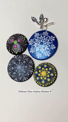 Acrylic Painting Tips, Seashell Painting, Dot Art Painting, Stone Painting, Mandala Art Lesson, Mandala Artwork, Mandala Painting, Stone Crafts, Rock Crafts