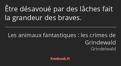 Citations Film, Gellert Grindelwald, Harry Potter, Quote Citation, Albus Dumbledore, Brave, Messages, Thug Life, Mood Quotes