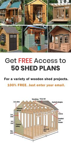 Just enter your email address and get access to our collection furniture beds furniture diy furniture plans furniture kitchen Shed Cabin, Cabin Plans, House Plans, Backyard Sheds, Backyard Patio, Backyard Projects, Outdoor Projects, Free Shed Plans, D House