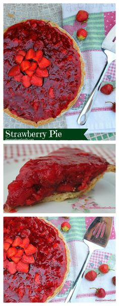 An easy Strawberry Pie with a secret ingredient in the crust.