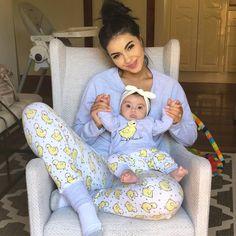 piżama dla mamy i córki - Unique Baby Outfits So Cute Baby, Cute Baby Clothes, Cute Kids, Cute Babies, Mama Baby, Mom And Baby, Baby Kids, Mom And Me, Baby Boy