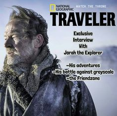 How will Jorah make it back to the Wall this time? Find out on Sunday at 9PM. Only on National Geographic HD.