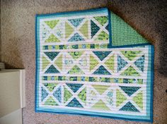 Stacy made this quilt for her baby girl.