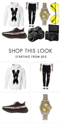 """""""Jake paul"""" by littleirishlass on Polyvore featuring Paul by Paul Smith, Palm Angels, Yeezy by Kanye West, Rolex, Nikon, men's fashion and menswear"""