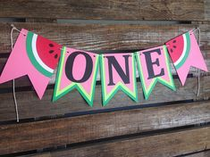 Watermelon One High Chair Banner One In A Melon Party First