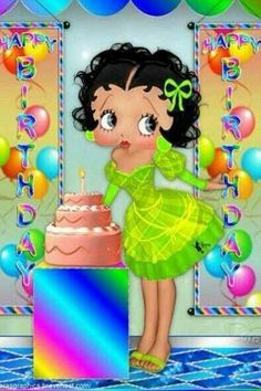 Corretta Lawrence uploaded this image to 'Betty Boop'. Happy Birthday To You, Happy Birthday Quotes, Happy Birthday Images, Happy Birthday Greetings, Birthday Pictures, Birthday Sayings, Betty Boop Birthday, Black Betty Boop, Betty Boop Cartoon
