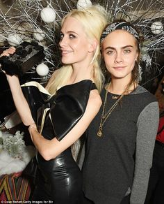 Poppy and Cara Delevingne - LOVE magazine Christmas party - December 18, 2015