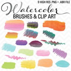 Check out Watercolor Brushes & Clip Art .ABR by sonyadehart on Creative Market