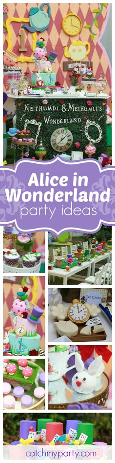 You don't want to miss this gorgeous Alice in Wonderland birthday party. The cake is amazing! See more party ideas and share yours at CatchMyParty.com