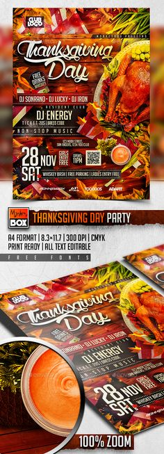 Thanksgiving Day Party — Photoshop PSD #colorful #vegetables • Available here → https://graphicriver.net/item/thanksgiving-day-party/13581310?ref=pxcr