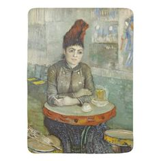 Agostina Segatori in Cafe du Tambourin by Van Gogh Receiving Blankets