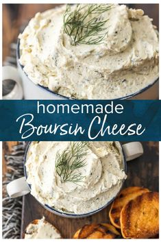 Boursin Cheese is a soft, creamy cheese that works as a dip or a spread. It's the perfect appetizer to serve with vegetables and crackers, or you can add it into salads, pastas, chicken recipes, or even bake with it. This herb-filled, flavorful homemade Boursin Cheese recipe goes well with just about everything! So whip some up and serve it at your summer party. #thecookierookie #cheese #boursin #homemade #creamcheese #herbs via @beckygallhardin