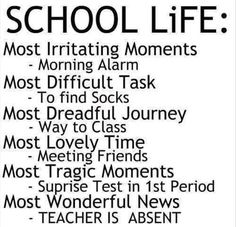 Funny Back To School Quotes For Students Images & Pictures - Becuo Good Quotes, Life Quotes Love, Funny Quotes For Teens, Quotes For Kids, Quotes On School Life, Family Quotes, Funny School Quotes, School Quotes For Teens, School Sayings