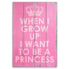 This is one of my favorites on totsy.com: Princess Wall Art  For the twins!