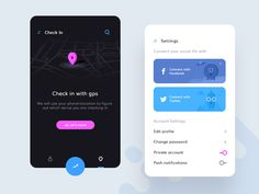 Settings  Check in  (Social Gathering) by Prakhar Neel Sharma #Design Popular #Dribbble #shots