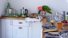 For additional counter space in your cramped kitchen, invest in a cutting board or sink cover.