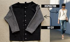 Make your own Windowpane sweater// www.happinessiscreating.com