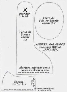 Molde da famosa boneca russa by Andrea Malheiros (Mimin Dolls)