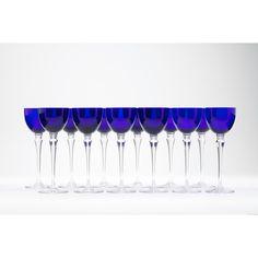 St Louis Crystal, Set of 12 Grand-Lieu Glasses: Leland Little Auctions Sold $900