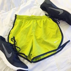 Lime Green Nike Tempo Shorts lime green // kids medium however I am an adult size 2 and these fit me // interested in more than one thing in my closet? ask about bundling Nike Shorts