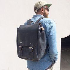 Woooo the dude-pack!  #crossbowleather #handmade #leatherbackpack #leather