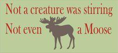 Christmas  STENCIL Not a creature was stirring por SuperiorStencils