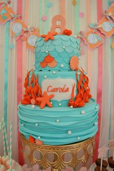 Mermaids Birthday Party Ideas | Photo 1 of 68 | Catch My Party