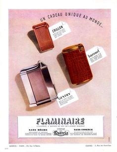 Vintage Cigarette Lighter Advertising